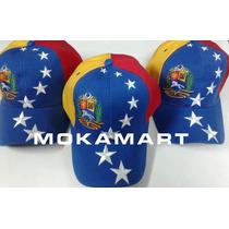 Gorras Tricolor Bandera Y Escudo De Venezuela, Cierre Mágico