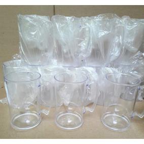 100 Canecas De Acrílico Transparente 370ml Lembrança-atacado