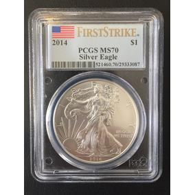 Moneda $1 Dolar 2014,onza De Plata Certificada Ms 70, Silver