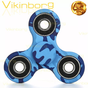Spinner Fidget Abs Metal Camuflado Multicolor 3 Puntas Rulem