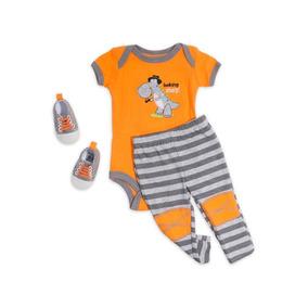 Conjunto Con Pañalero Baby Colors Anaranjado Pr-5025772
