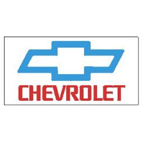 Bandera Blanca - Logo Celeste - Chevrolet - Nueva - 145x70cm