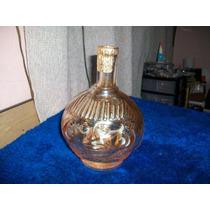Antigua Botella De Vidrio Con Figura De Rostro, Buen Estado