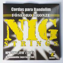 Jogo De Cordas Para Bandolim Fosforo Bronze Nig