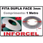 Fita Adesiva 3m Dupla Face 3mm Reparo Touch Lcd (1 Metro)
