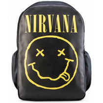Mochila Banda Nirvana Notebook Tribo Do Rock
