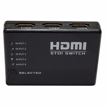 Hub Hdmi Switch 6 Portas 5x1 Splitter Amplificador Hdtv
