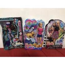 Monster High Claudeen Wolfe + Barbie Cores + Barbie Filhote