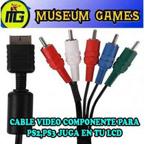 Cable Audio Y Video Componente 5 Rca Para Ps2 Y Ps3 Lcd