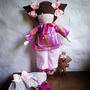 Muñeca Pijama Decoración Infantil Cuarto Cuna Bebe Niña