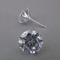 10 Par Brincos Masculino 5mm Diamante Sintético Prata 925