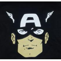 Franela Camisa Estampada Superheroes Capitan America