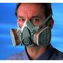 Mascara Doble Filtro 3m Contra Quimicos Fumigacion Pintura