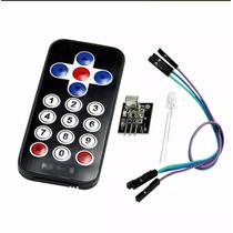 Kit Controle Remoto Ir + Receptor Ir Arduino + Led Ir