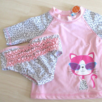 Conjunto Camisa Calcinha Proteção Solar Uv 50 Bebê Infantil
