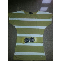 Blusa, Navidad,camisa Marca Super Model Con Cinturon Talla L