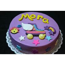 Torta Soy Luna Cumpleaños Infantiles Artesanales A Pedido
