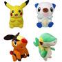 Pokemon Go Pelucia Plush 30cm Pikachu Oshawott Pokabu Snivy