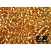 Missangão Ouro Escuro Transparente 6/0 - 500g