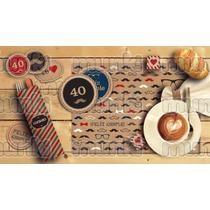 Kit Imprimible Cumpleaños 40 50 60 70 80 Años Varón Hombre