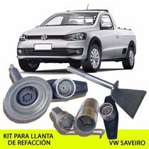 Promoción Enero! Kit Seguridad Llanta De Ref Vw Saveiro