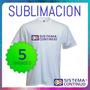 Remeras De Hombre Sublimables Polyester Sublimacion X 5u Xxl