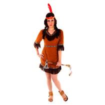 Disfraz Indio - Señoras Para Mujer Adulto Red Nativo Vaquero