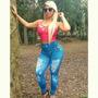 Calça Legging Imita Jeans Fitness Suplex Estampado Oncinha A