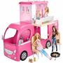 Barbie - Novo Mega Trailer Pop-up Camper - Mattel Cjt42