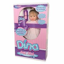 Boneca Bebê Dina Faz Xixi Loira Bambola