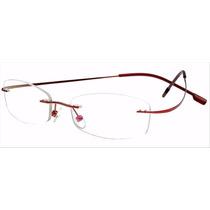Armação P/ Óculos De Grau Sem Aro Em Titanium Só Rosa