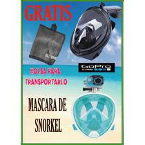 Mascara Para Snorkelear Y Bucear Compatible Con Go Pro Cam