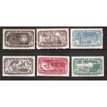1956 México Centenario De La Estampilla Postal 6 Sell Aéreos