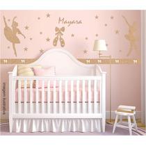 Kit Decoração Quarto Parede Bebê Feminino Completa Mdf