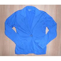 Casaco Moletom Infantil Azul Estilo Blazer, Bf04