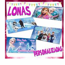 Lona Personalizada Frozen Esla Olaf Y Mas Fiesta Cumpleaños