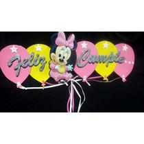 Banderin De Goma Eva Modelo Globo Personaje Minnie O Mickey