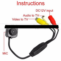 Cámara Oculta Con 3.7mm Cctv Mini Audio Y Vídeo