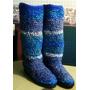 Botas Tejidas Al Crochet Sobre Zapatilla