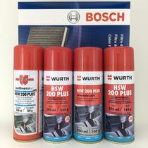 Higienizador Wurth Hsw 200 Plus + Filtro Ar Condicionado