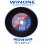 Discos De Corte De Tronzadora 14 X 1/8 X 1
