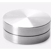 Base Giratória Em Aluminio Para Tampo De Vidro