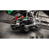 Ponteira Touring Street Glide Cromo Chanfro Regulavel Cobra