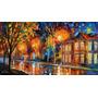 Painel Foto Obra De Arte 75cmx137cm Tela Leonid Afremov #8