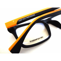 Armação Óculos Ea3034 Varias Cores Masculino + Case
