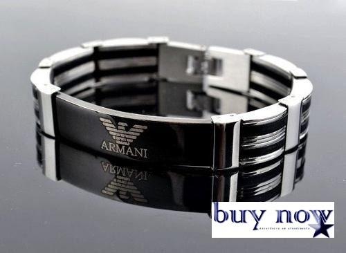 2630d961eb0 Pulseira Bracelete Em Aço Inox Masculino Empório Armani - R  125