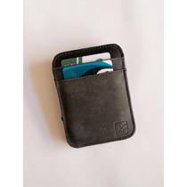 Carteira Mágica Porta Cartão E Dinheiro Em Couro Legítimo