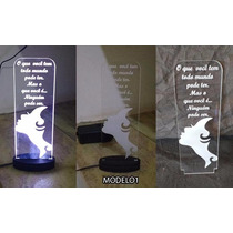 Abajur Luminária Display Led Acrílico Personalizado
