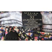 Pantalon De Jeans Estampado Con Spandex Ossira T 32 Dama
