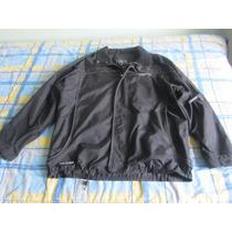 Casaca Negra Moto Termica Impermeable Abrigadora Bolsillos F